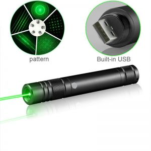 Lazyboy Portable Laser Pointer with Built-in Battery and USB Charger