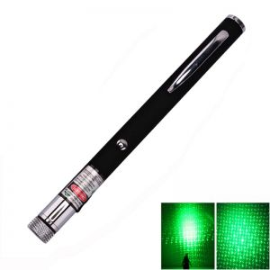 Lita 5mW 532nm Green Laser Pointer Pen with Interchangeable Lens