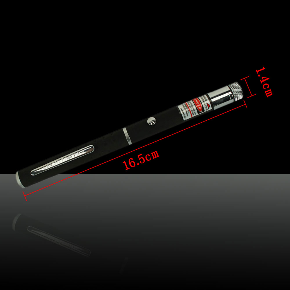 5mW 650nm Red Laser Pointer Starry-Light-Lens Pen-Shape Black